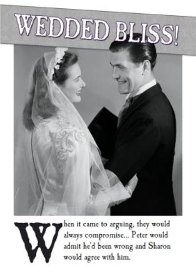 Wedded Bliss Compromise Personalised Wedding Card