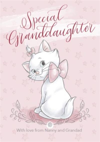 Disney Aristocats - Cute Granddaughter birthday card