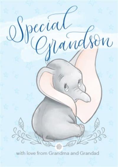 Disney Dumbo - Cute Grandson birthday card