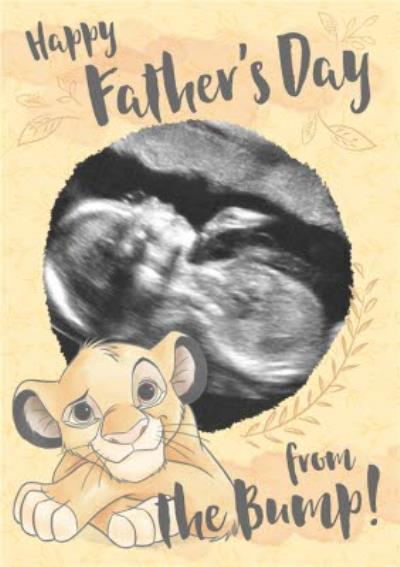 Father's Day Card - From the bump Photo upload