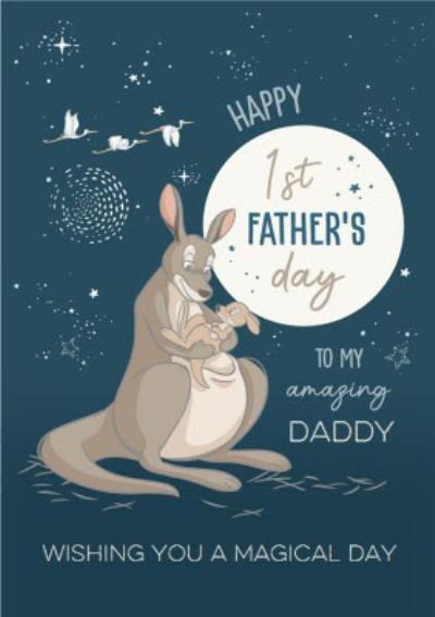 Cute Disney Kangaroos 1st Father's Day Card