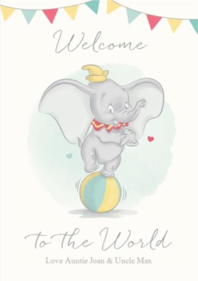 Dumbo Welcome New Baby Card