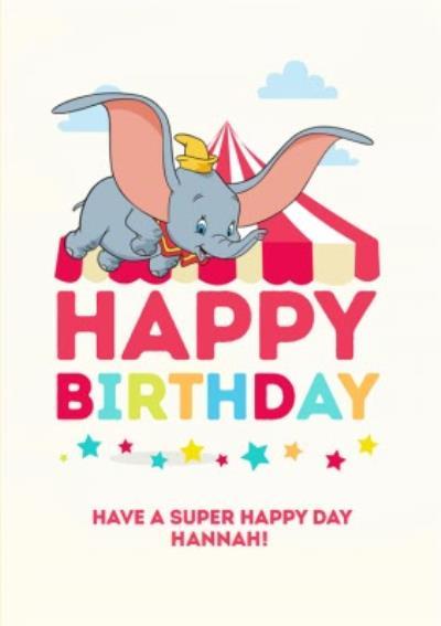 Disney Dumbo Birthday Card - Circus