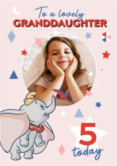 Disney Dumbo To A Lovely Granddaughter Photo Upload Birthday Card