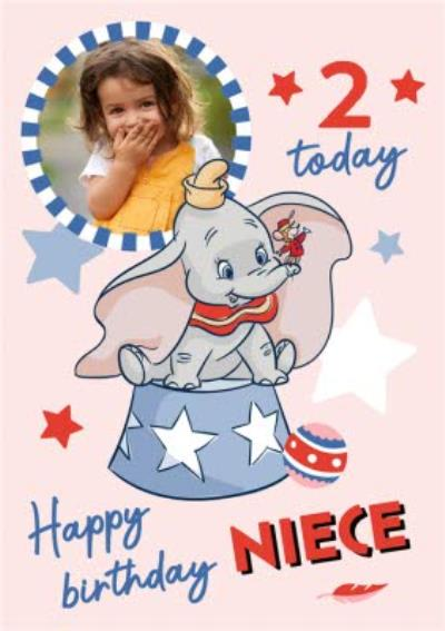 Disney Dumbo Happy Birthday Niece Photo Upload Birthday Card