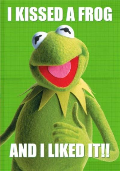 The Muppets I Kissed A Frog And Liked It Funny Valentines Day Card