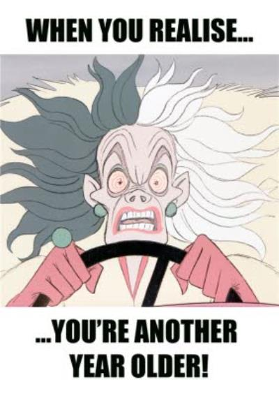 Disney Cruella When You Realise You're Another Year Older Birthday Card