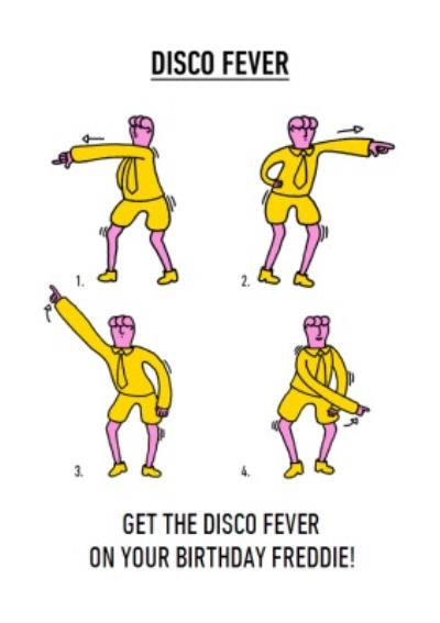 Video Game Dance Moves Disco Fever Birthday Card