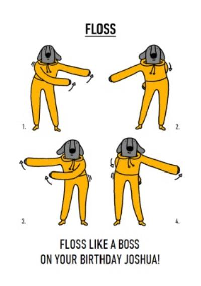 Video Game Dance Moves Floss Like A Boss Birthday Card