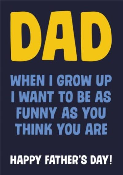 Dean Morris Dad Jokes Father's Day Card
