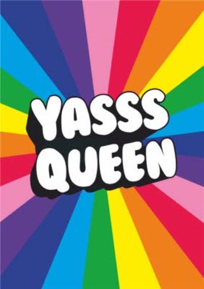 Typographic Yass Queen Card