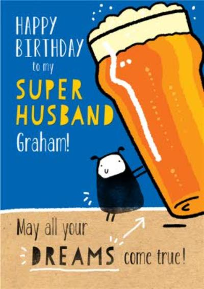 Funny Step Husband Birthday Card