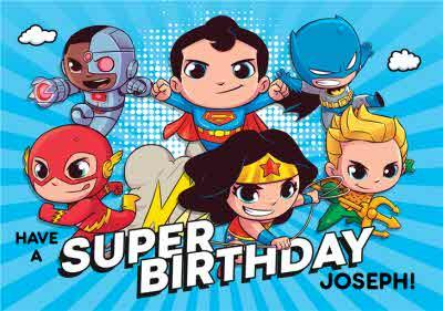 Kids DC Characters - Teen Titans GO! -  Birthday card