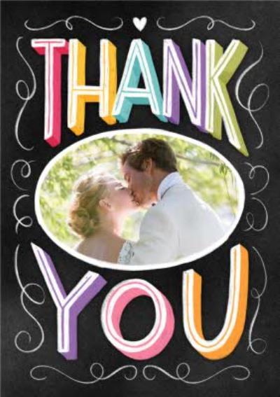 Wedding Photo upload Postcard Thank you