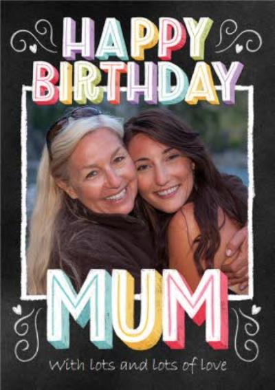 Photo Upload Happy Birthday Mum Card