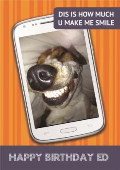 Humour Personalised Birthday Card