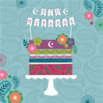 Eid Mubarak Colourful Cake Card