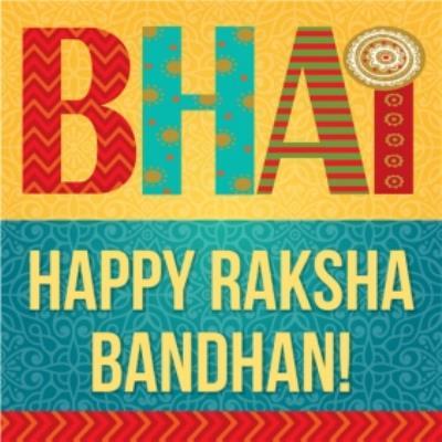Bhai Happy Raksha Bandhan Card