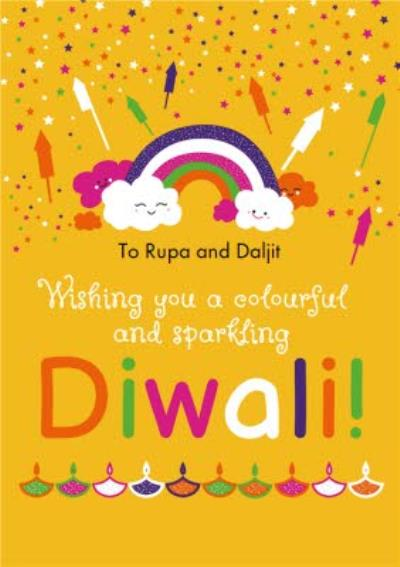 Colourful Diwali Card