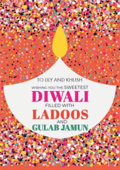 Ladoos And Gulab Jaman Diwali Card