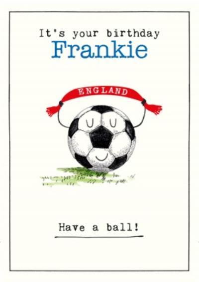Have A Ball Cute Illustrated Football Birthday Card