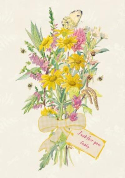 Bunches Of Flowers Just For You Personalised Card