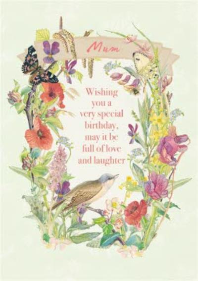 Summer Field Flowers Personalised Happy Birthday Card