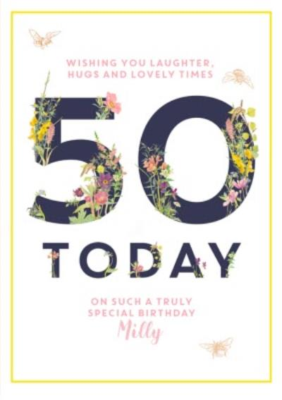 Country Diary 50 Today Personalised Card