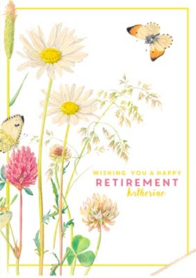 Country Diary Happy Retirement Personalised Card
