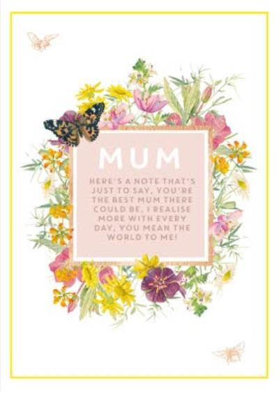 Mother's Day Card - Mum - Verse - floral