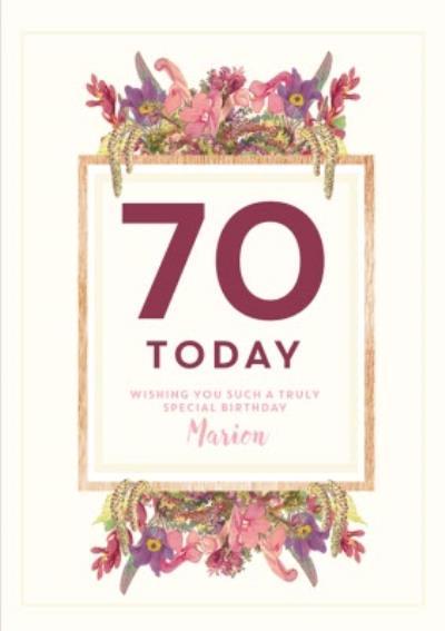 Edwardian Lady 70Th Birthday Personalised Card