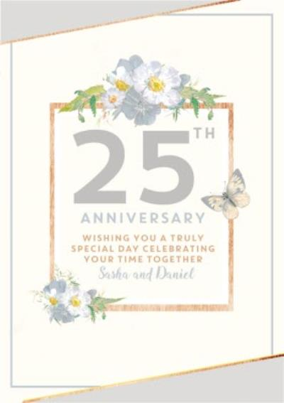 Traditional 25th Anniversary card, Wishing you a truly Special Day
