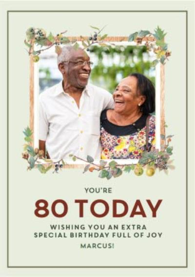 Traditional Wishing You an Extra Special Birthday Photo Upload 80th Birthday Card