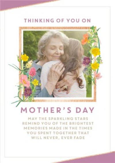 Edwardian Lady Floral Thinking Of You Photo Upload Mothers Day Card