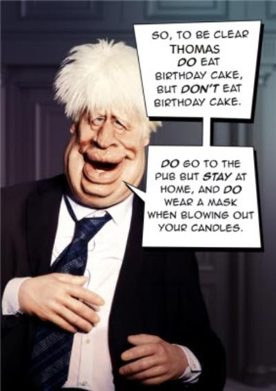Spitting Image Boris Johnson Do Eat Cake But Dont Eat Cake Card