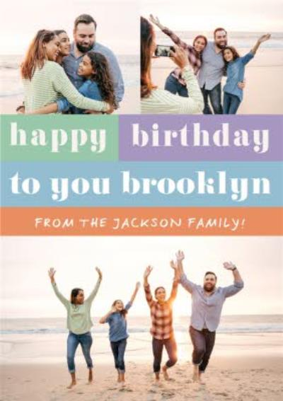 Photographic Photo Upload Happy Birthday To You Card
