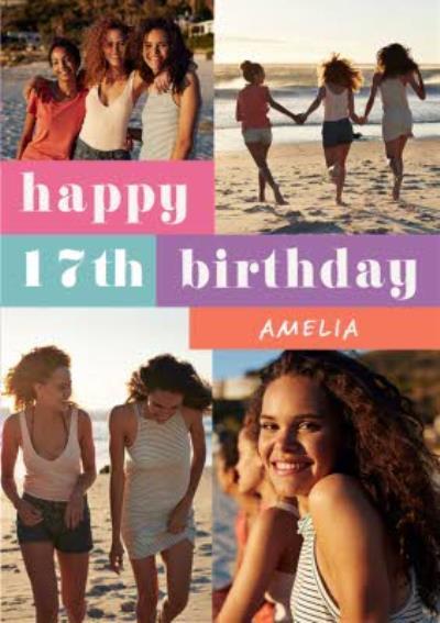 Photo Upload Personalised Birthday Card