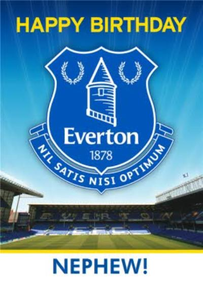 Everton Football Club Nephew Birthday card