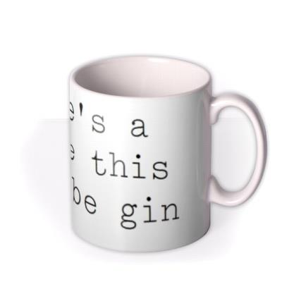 Might Be Gin Personalised Mug