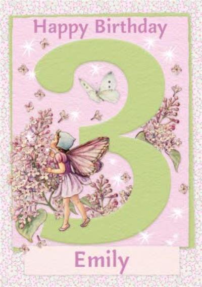 Flower Fairies 3rd Birthday Card
