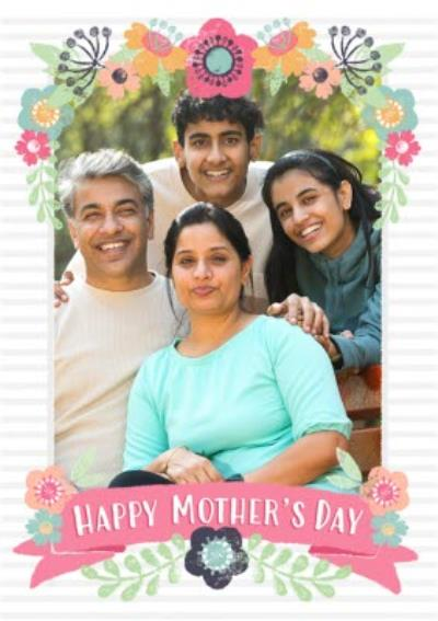 Mother's Day Card - Photo Upload Flower Card