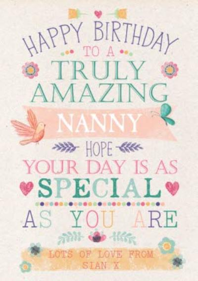 Happy Birthday Card -  Truly Amazing - Hope your day is as special