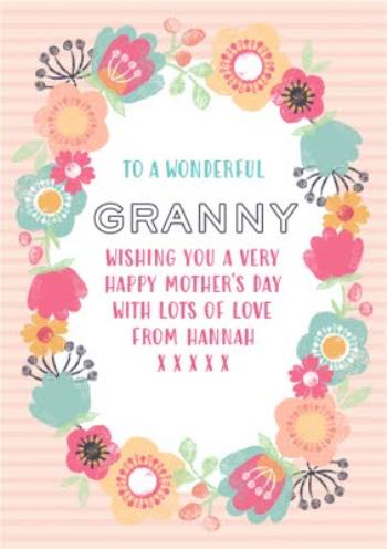 Mother S Day Card Granny Floral Card Moonpig