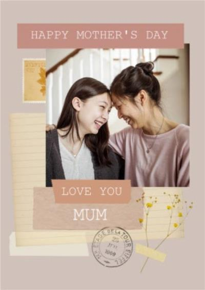 Happy Mother's Day Mum Instant Photo Personalised Mother's Day Card