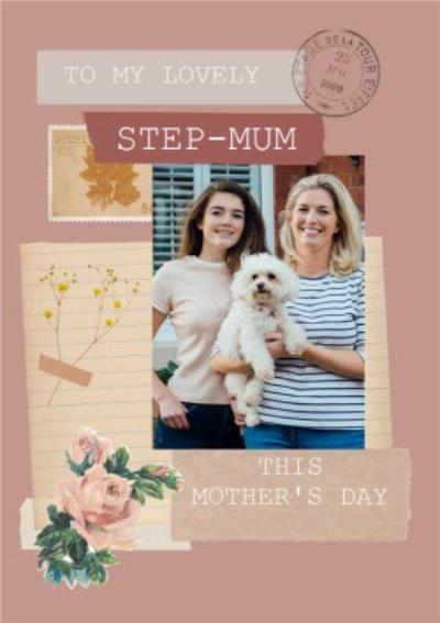To My Lovely Step Mum Instant Photo Personalised Mother's Day Card