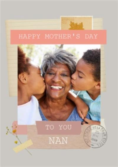 To You Nan Instant Photo Personalised Mother's Day Card