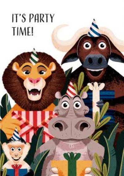 Folio Animal Its Party Time Birthday Card