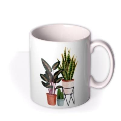 Folio Two duplicate illustrations of a three different house plants Mug