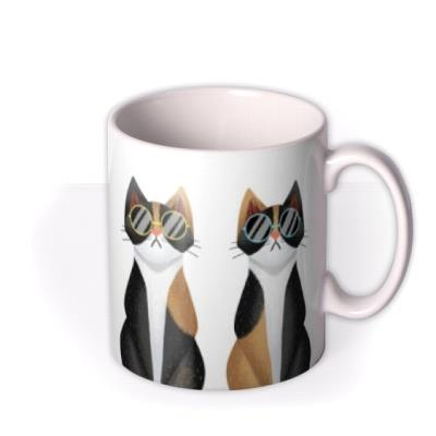 Folio Illustrations Of Four Cats In A Row Wearing Different Coloured Sunglasses Mug