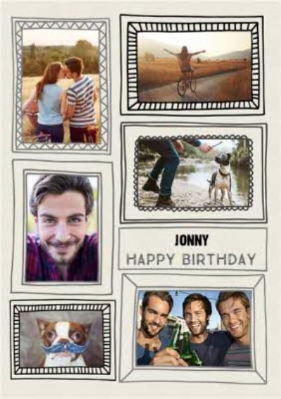 Multi Photo Frame Personalised Card